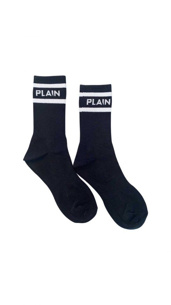 Midway Black Plain Socks